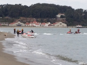AMERICA'S CUP RESCUE PRACTICE