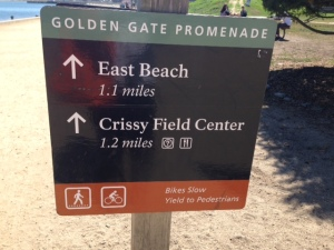 Crissy Field sign