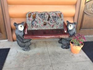 Grey Wolf bench